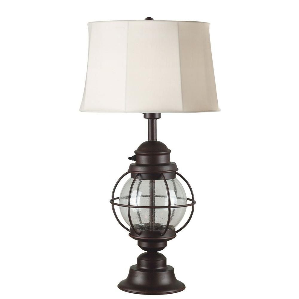 Kenroy Home Hatteras 31 In Gilded Copper Outdoor Table Lamp 03070 Outdoor Table Lamps Copper Table Lamp Table Lamp