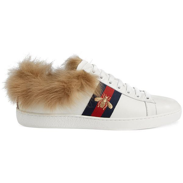 Gucci Ace Sneaker With Fur (2,540 PEN