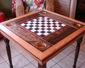 NDH Game Tables Are Custom Built. Dining, Chess, Card Felt, Game Board And  Storage Area.
