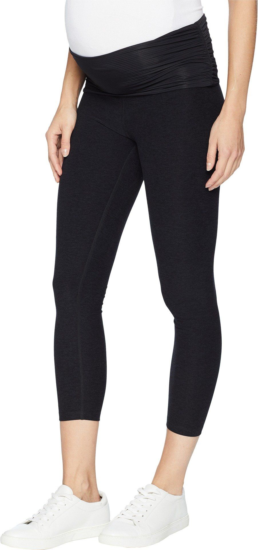 7b2ed71336a1c pregnancy workout - Beyond Yoga Womens Fold Down Maternity Capri Leggings  Darkest Night Medium 21 * Take a look at this wonderful product.