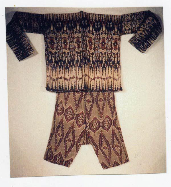 filipino textile - Bla'an man's abaka and ikat jacket and trousers ...