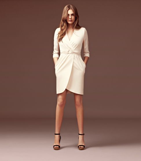 d92cda24e36ef Reiss wrap front dress. Lorna has long sleeves and a flattering wrap front