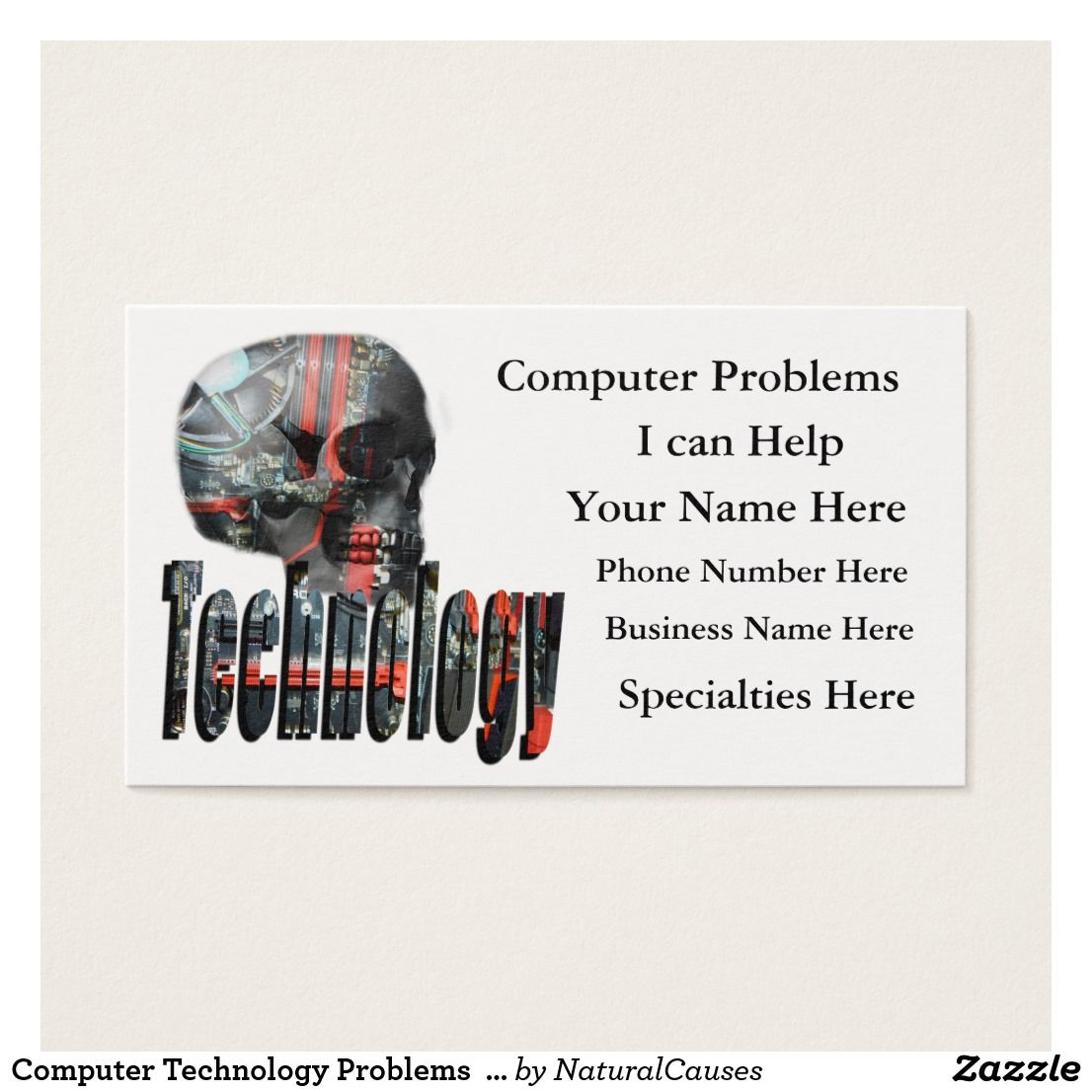 Technology logo and computer skull business card technology computer technology problems logo business cards magicingreecefo Choice Image