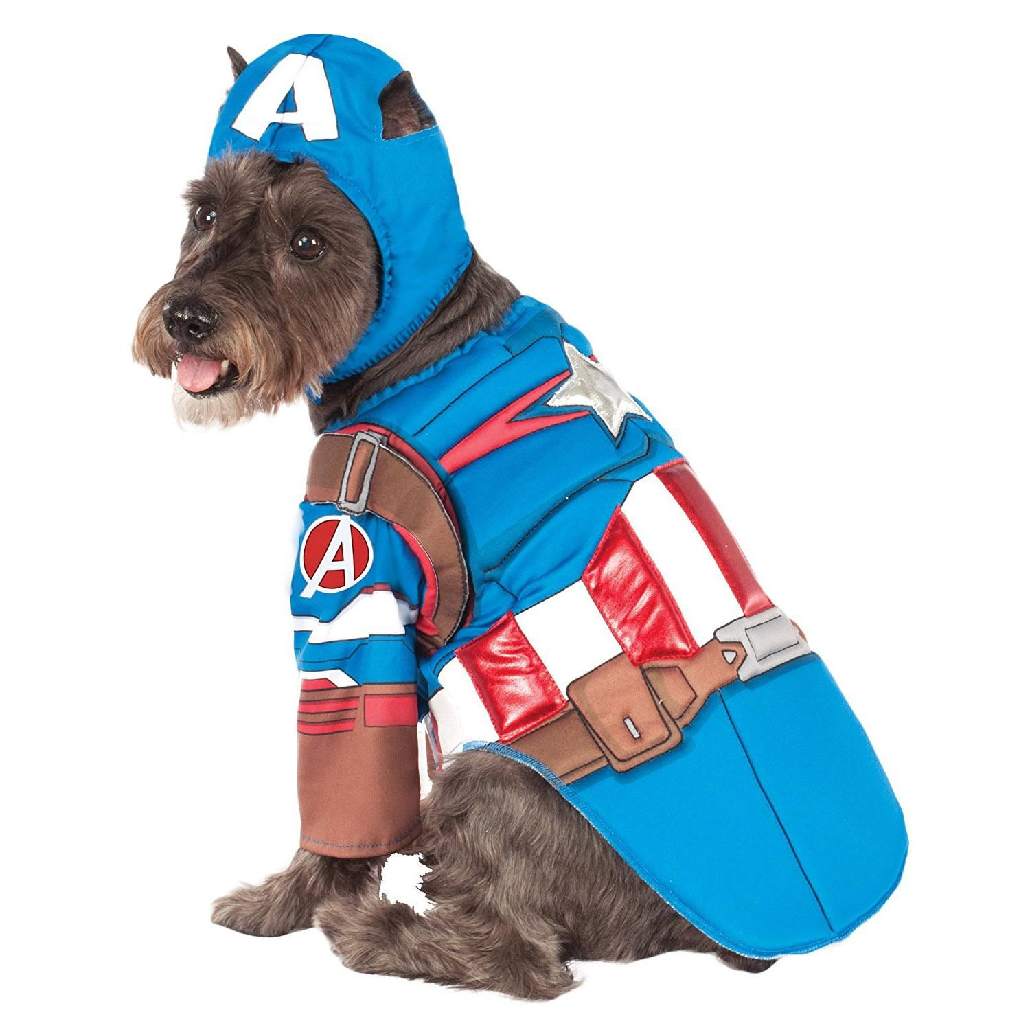 Marvel Deluxe Captain America Dog Costume Pet Costumes Pet