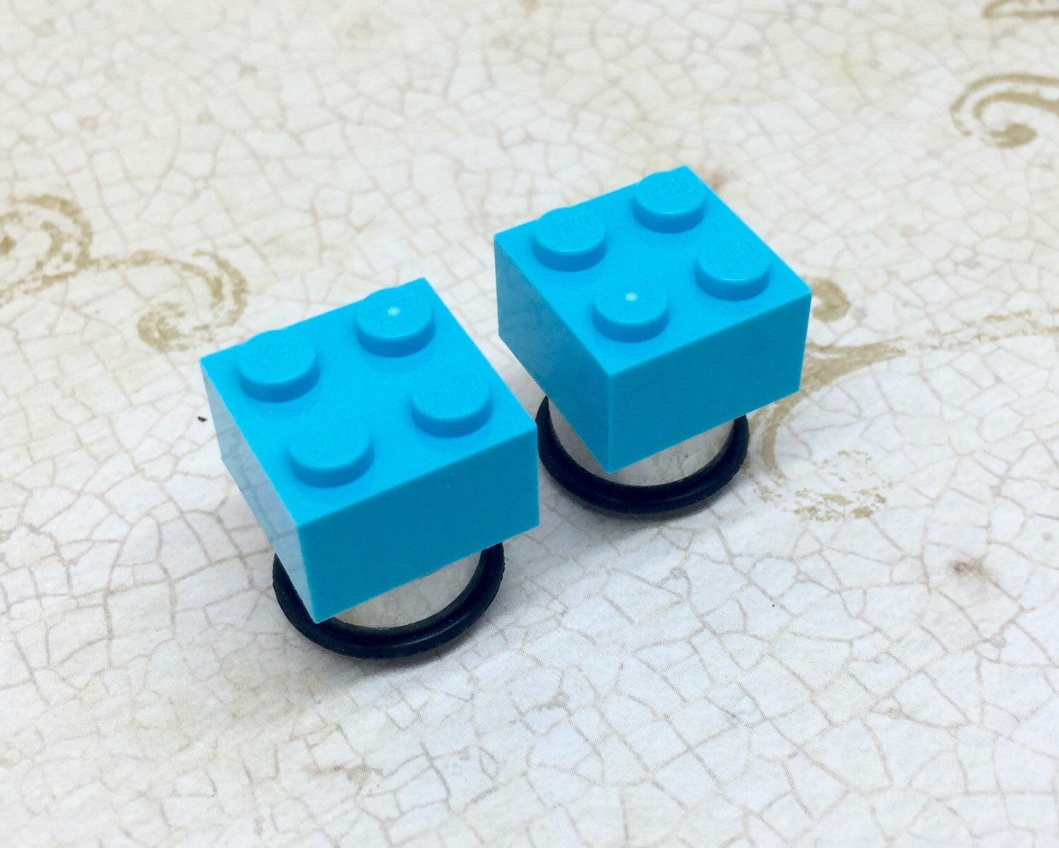 Gauging or stretching your ears information and stretch gauge kits - Authentic Lego Pieces Plugs Gauges Stretchers Earrings Stretched Gauged Ears 2g 0g 00g