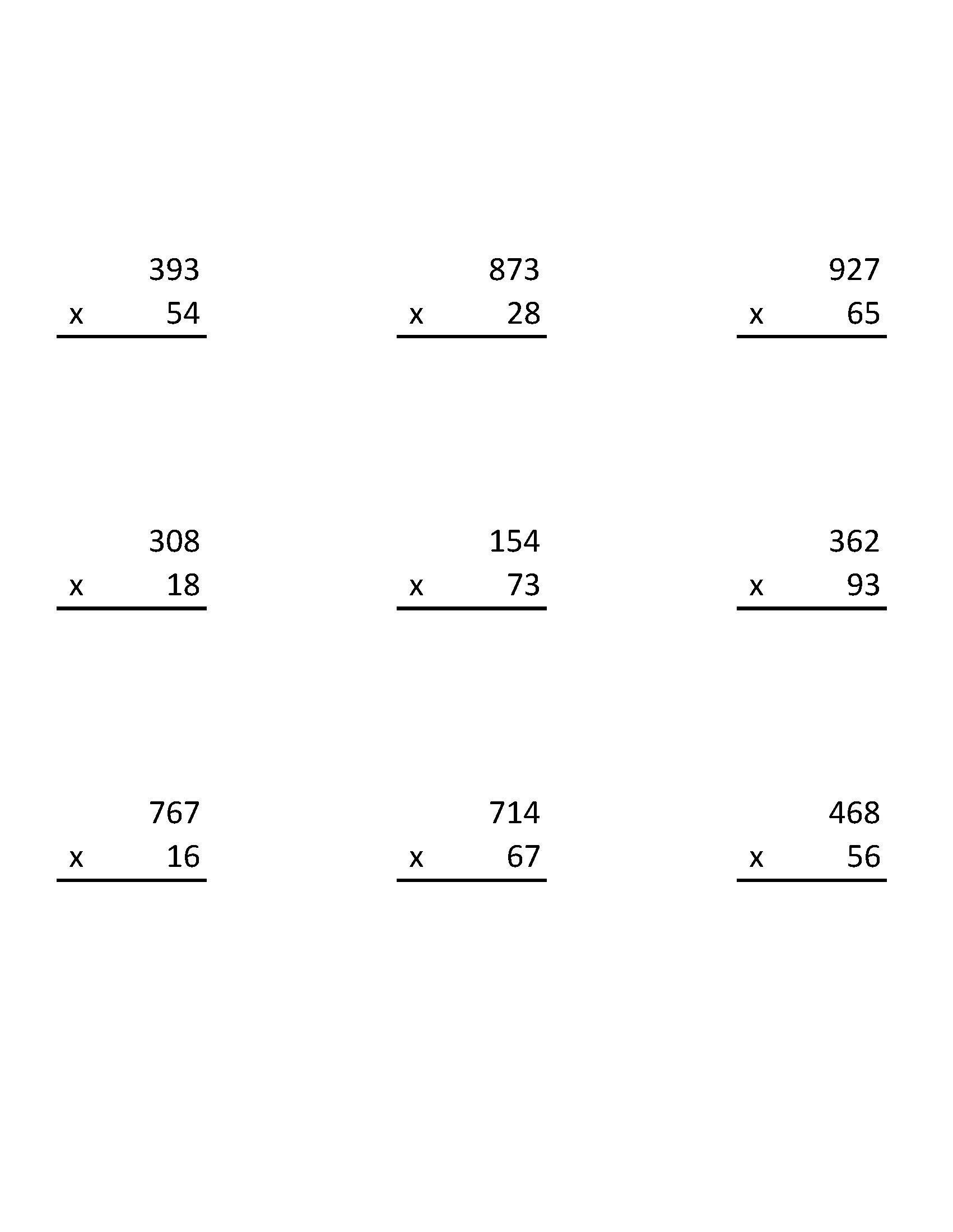 worksheet 2 And 3 Digit Multiplication Worksheets 3 digit by 2 multiplication worksheets edited edited