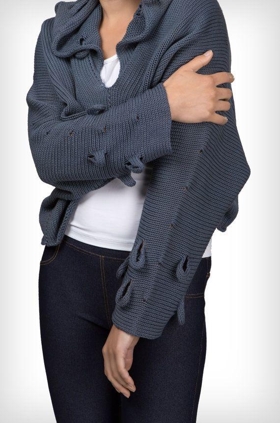 Suéter con capucha jeans G141 por GalaGolansky en Etsy