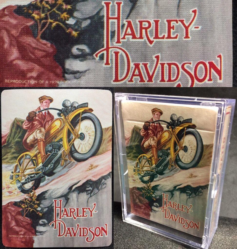 1929 Harley Davidson Antique Motorcycle Poker c1978 High