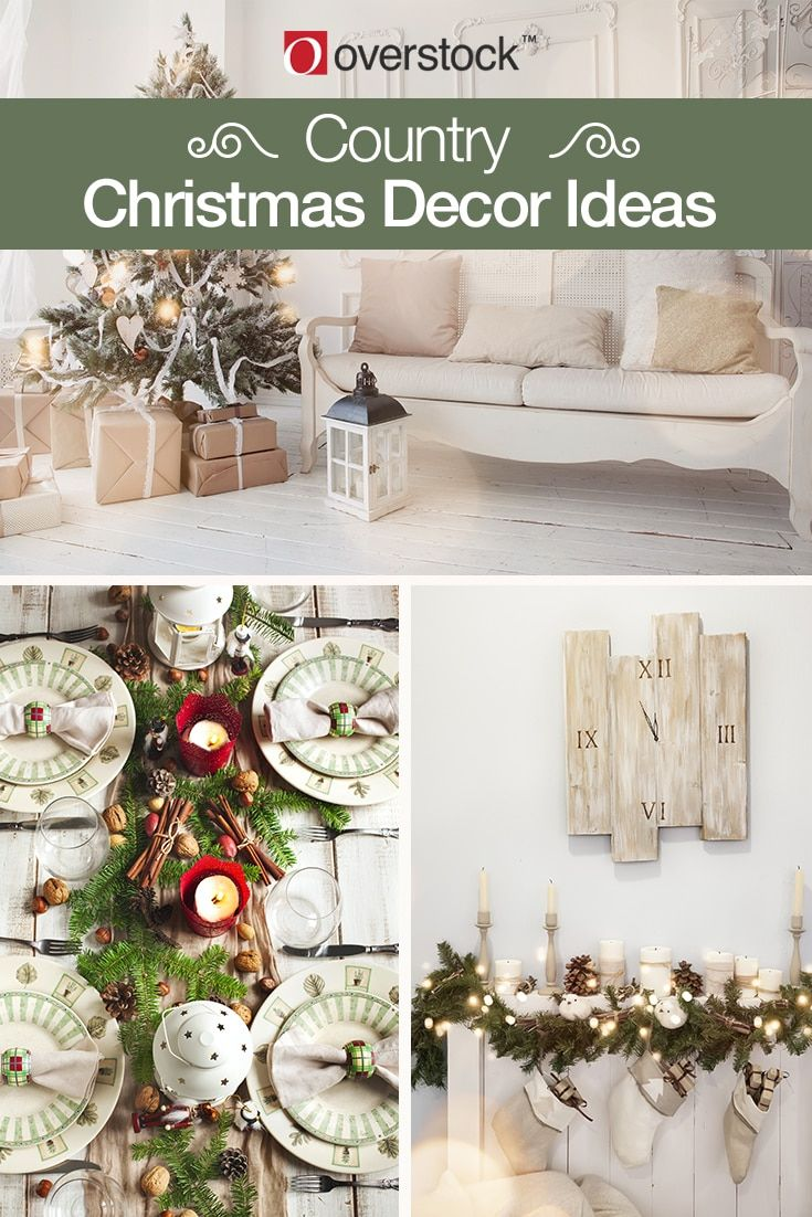 Country-Chic Christmas Decorating Ideas for the Home | Christmas ...