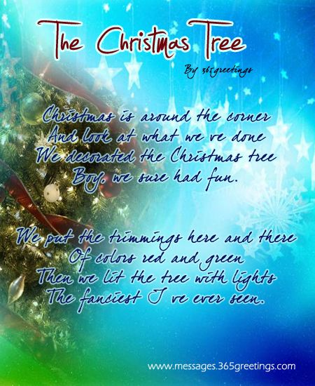 Poem About A Christmas Tree: Christmas Poems For Kids