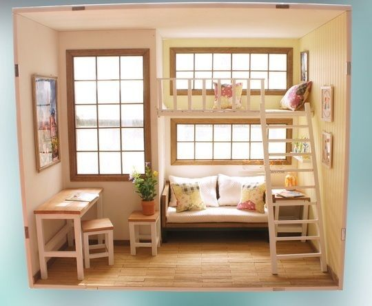 Room Box With Solid Wood Flooring Funitures Rx 54333 For 1 6 Scale Doll Barbie Room Box Solid Wood Flooring Wood Floors