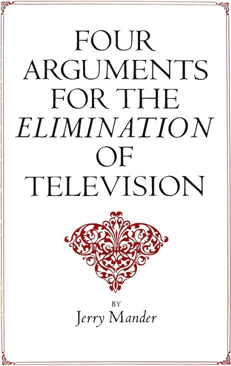 A total departure from previous writing about television, this book is the first ever to advocate that the medium is not reformable. Its problems are inherent in the technology itself and are so dangerous - to personal health and sanity, to the environment, and to democratic processes - that TV ought to be eliminated forever.