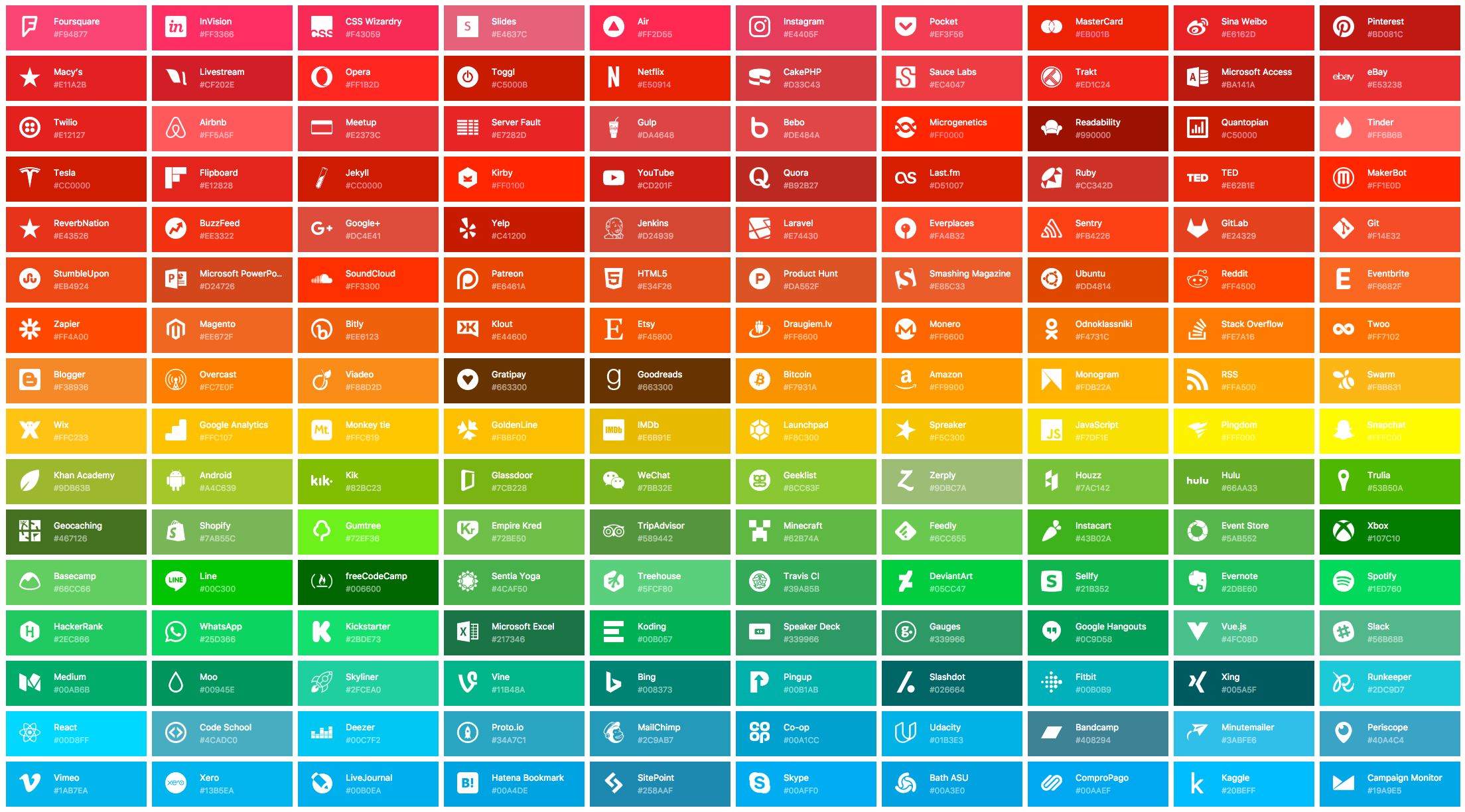 SVG icons for popular brands, maintained by Dan Leech