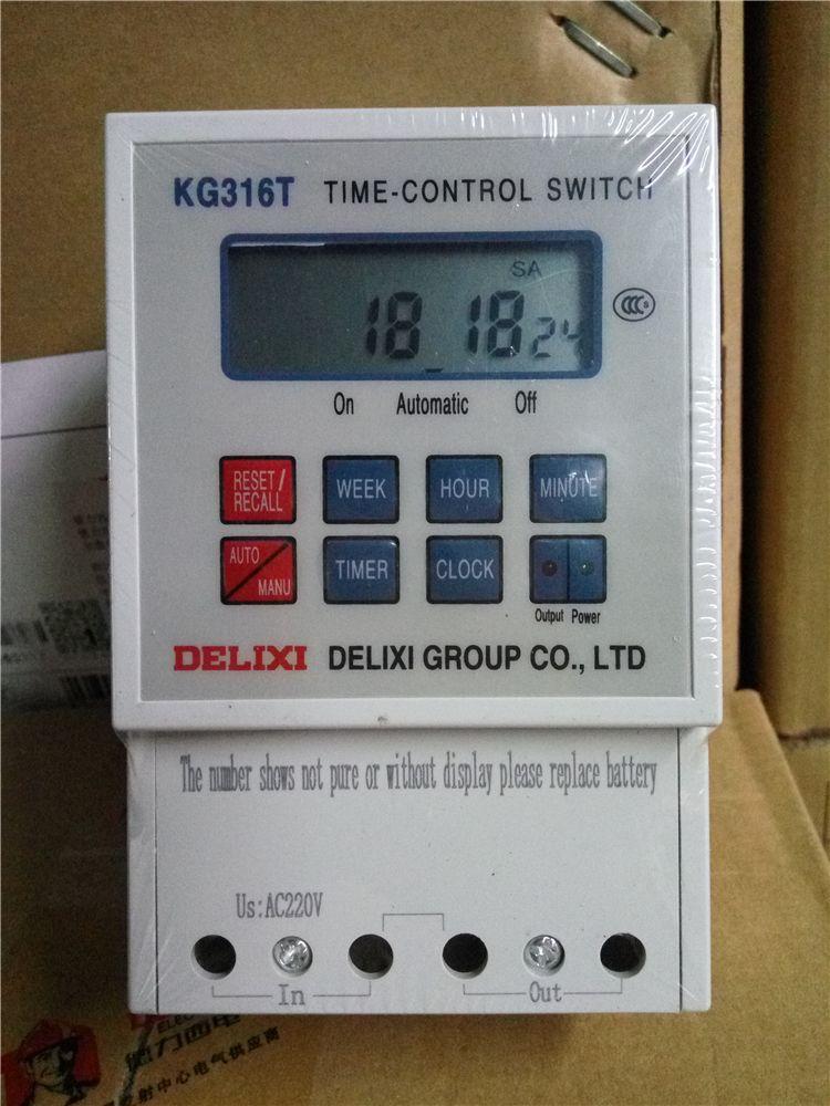 1 pcs KG316T Microcomputer AC 220V 50HZ 60HZ 25A Din Rail Digital - new blueprint digital timer 240v