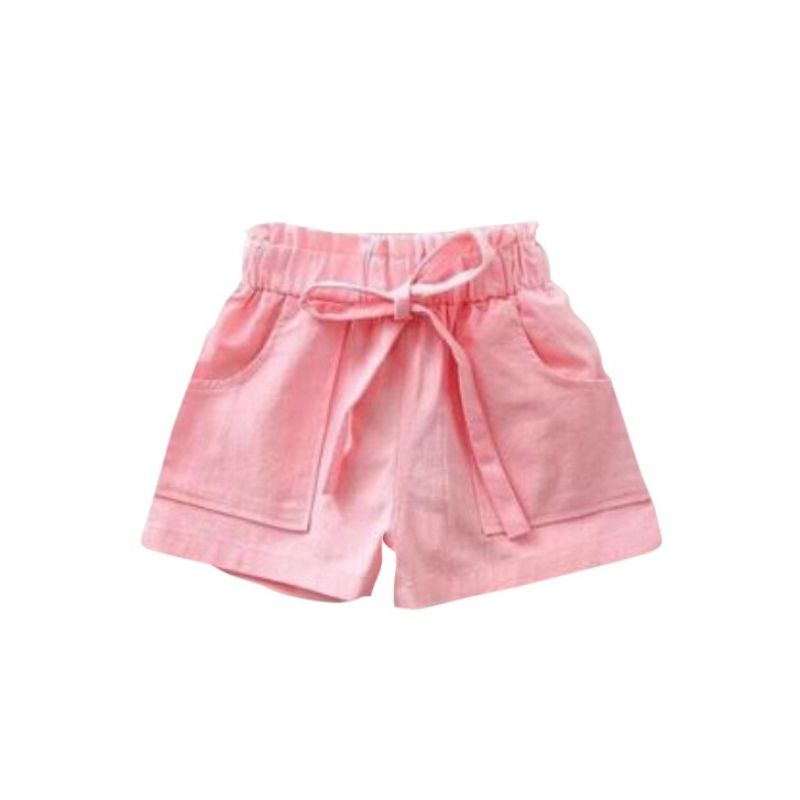 fbb96f0317 Girls Cotton Shorts Baby Girl Solid Bow Shorts Teenagers Casual ...