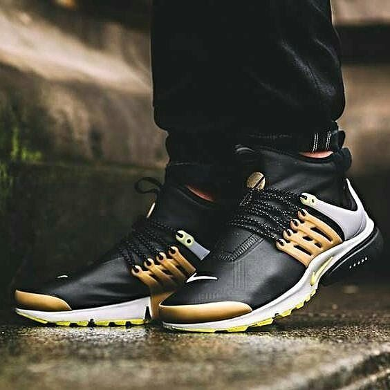info for 33025 bb5f5 Nike Air Presto Mid Utility Black Gold Premium Quality Size   39-45 Rp  550.000