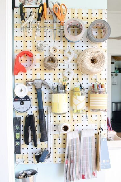 Leah Rich S Evolving Patina Peg Board Craft Room Easy Closet Organization