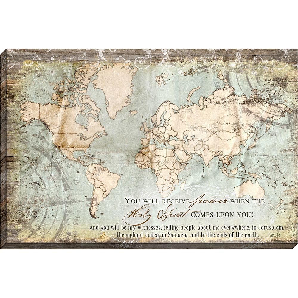 Acts 18 Map Giclee Graphic Art on