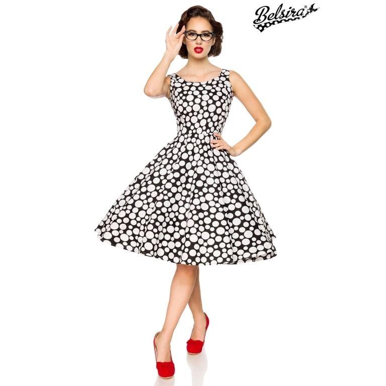 Vintage-Kleid (schwarz/weiss/dots, Gr. 2XL) (**) online ...