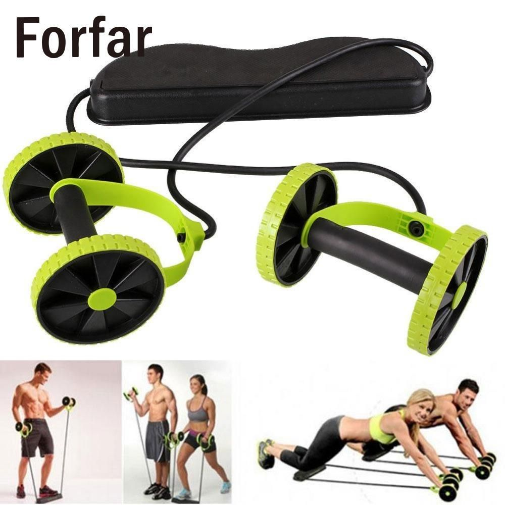 Abdominal Roller Workout Exercise Fitness y Dual Ab Wheel for Abs