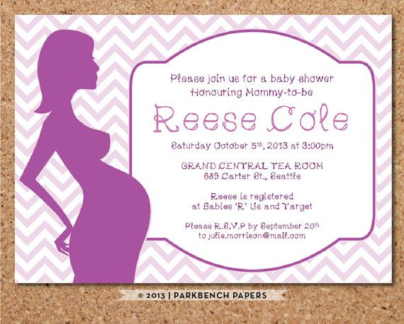 Baby Shower Invitation - Pink Chevron Baby Bump - DIY Editable - invitation word template