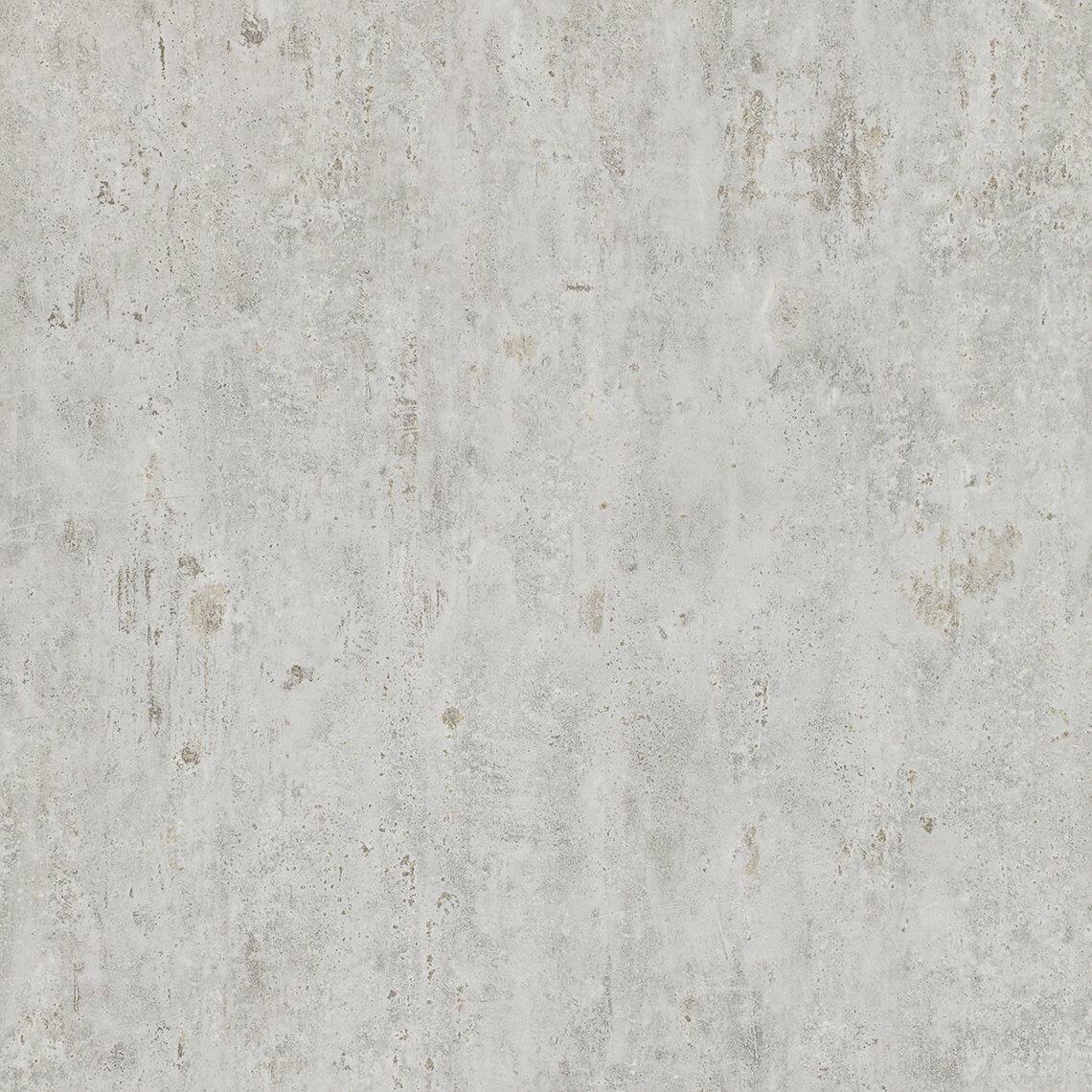 Papier Peint LAUREL, Vinyle Sur Papier Effet Béton, Gris Nuage