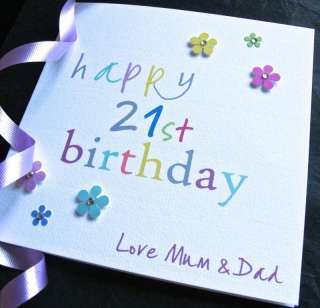 Handmade 21st Birthday Card Daughter Sister Son Brother