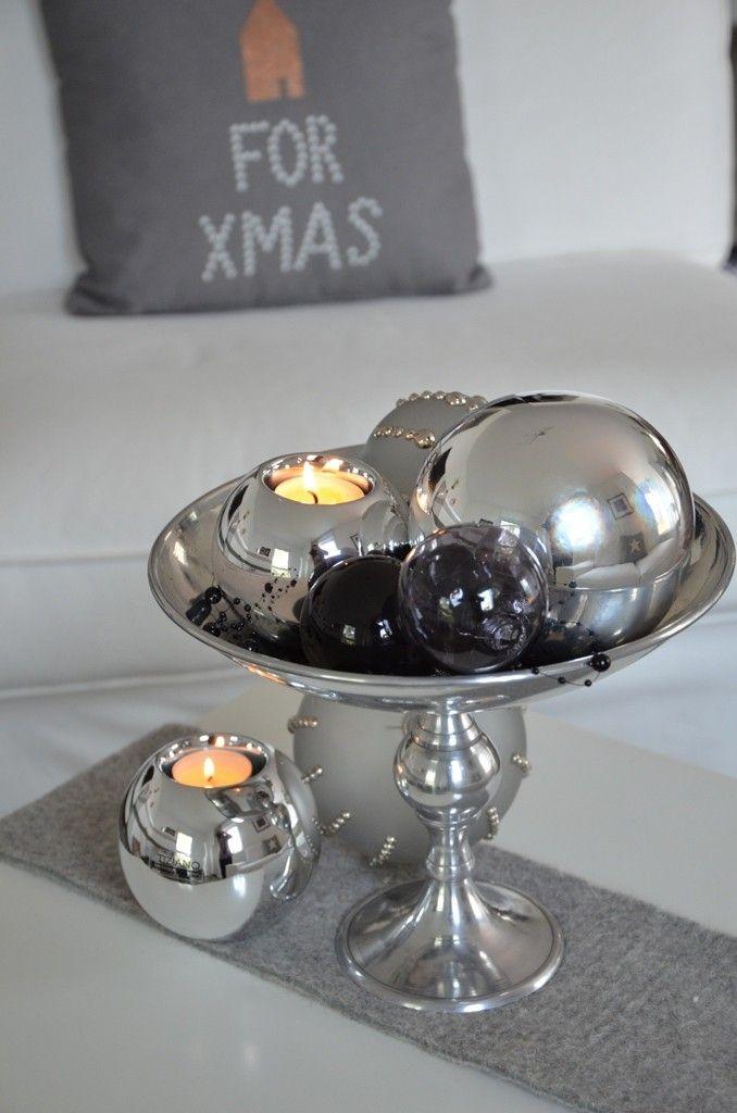 Weihnachtsdeko in Silber für Ihren Wohnraum www.tiziano-shop.com