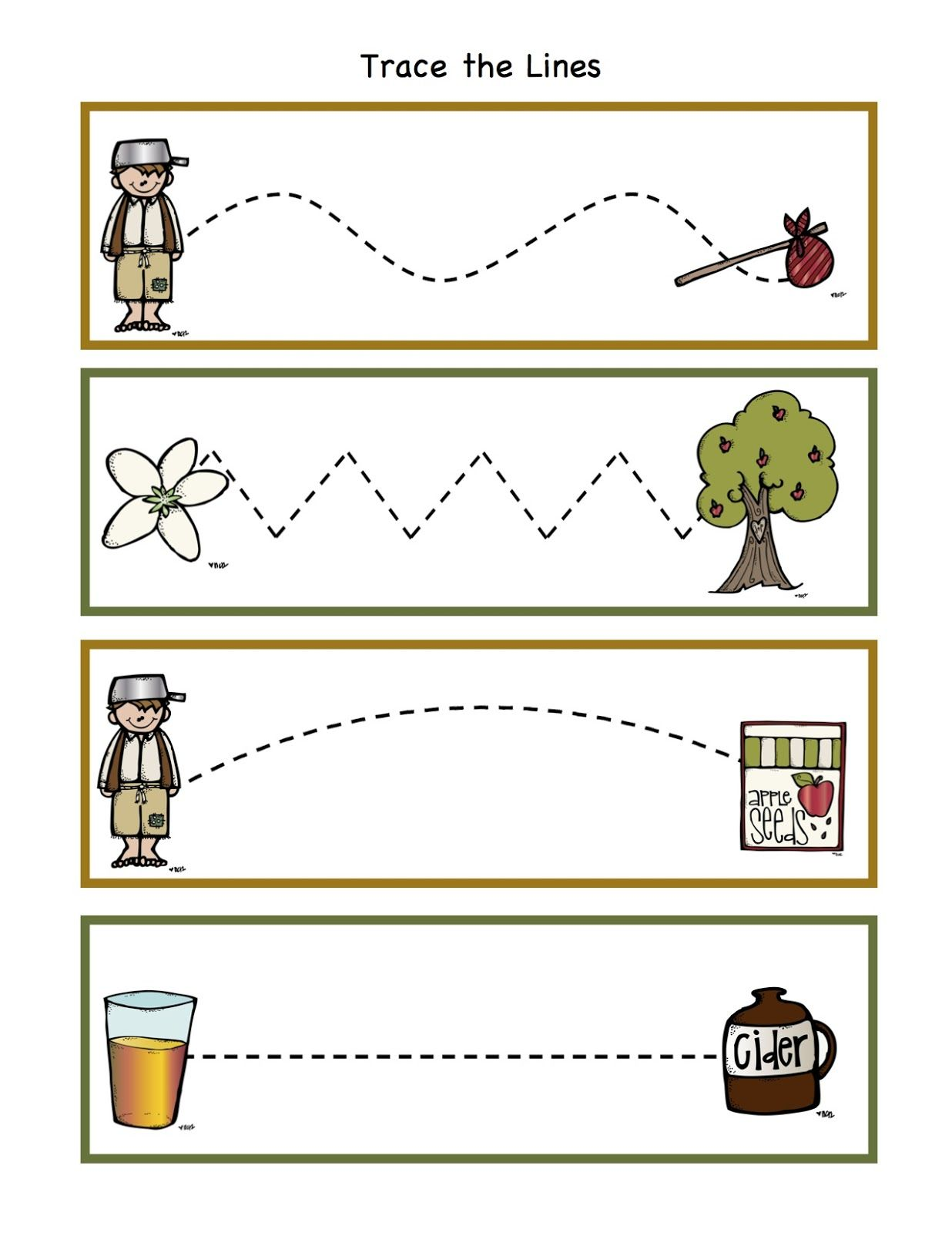 Johnny Appleseed Printable Book