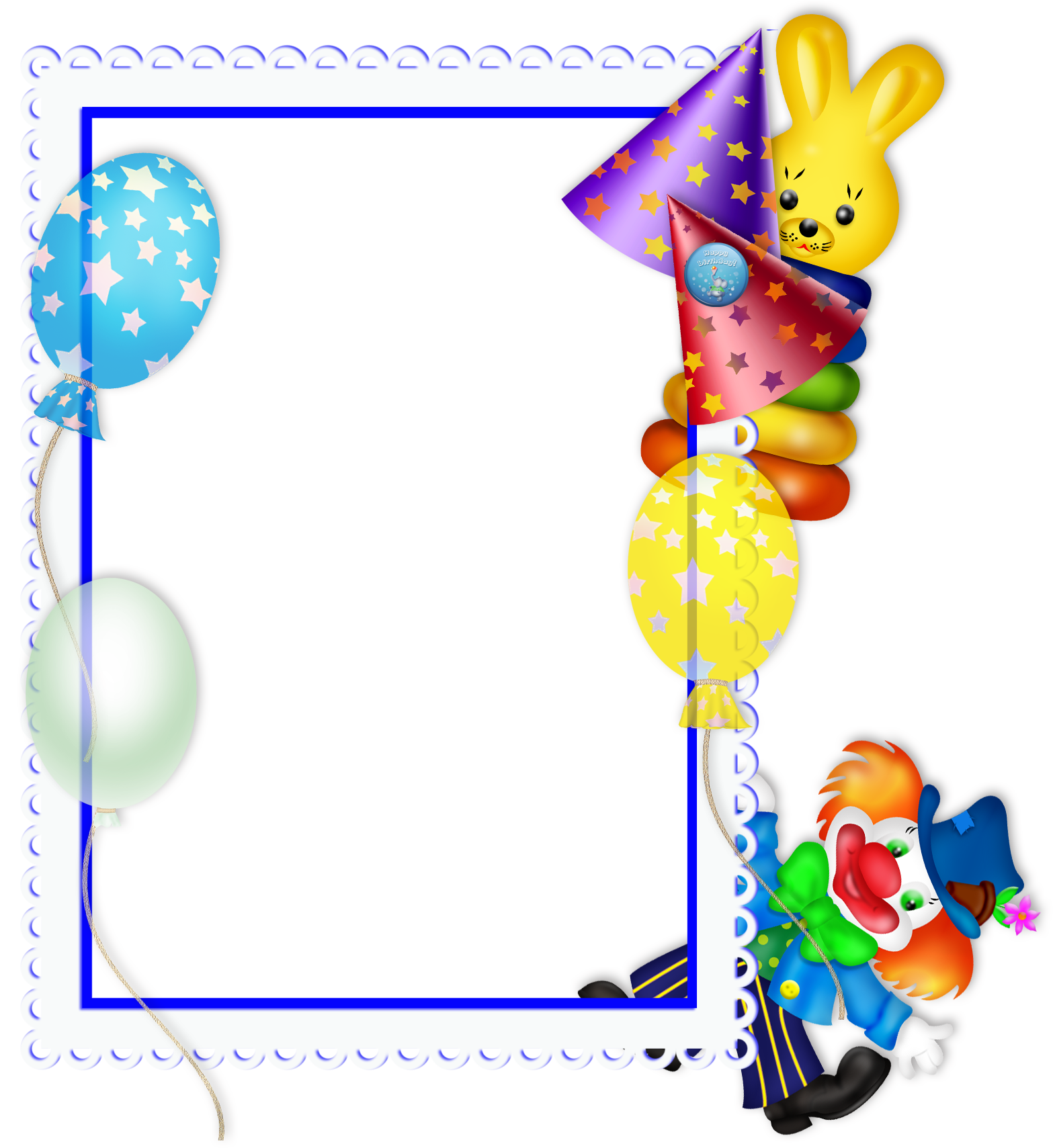 Happy Birthday Transparent PNG Party Frame | Party frame