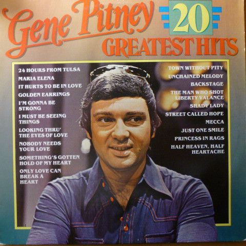 Gene Pitney 20 Greatest Hits Vinyl Lp At Discogs Gene Pitney Greatest Hits Gene