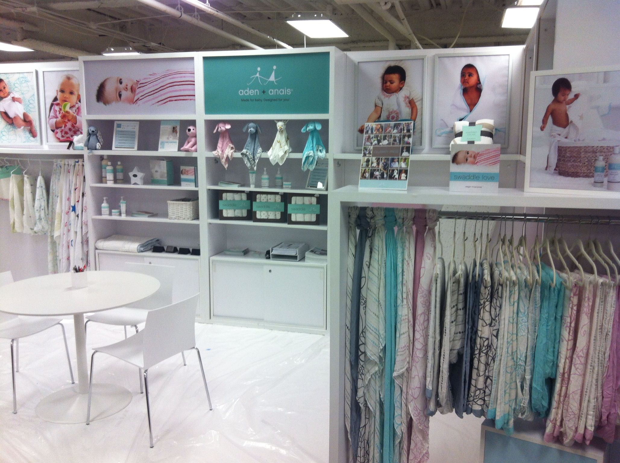 aden + anais booth at the 2013 Dallas Gift Market | Baby products ...