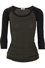 JAMES PERSE Color-block stretch-cotton jersey top €140