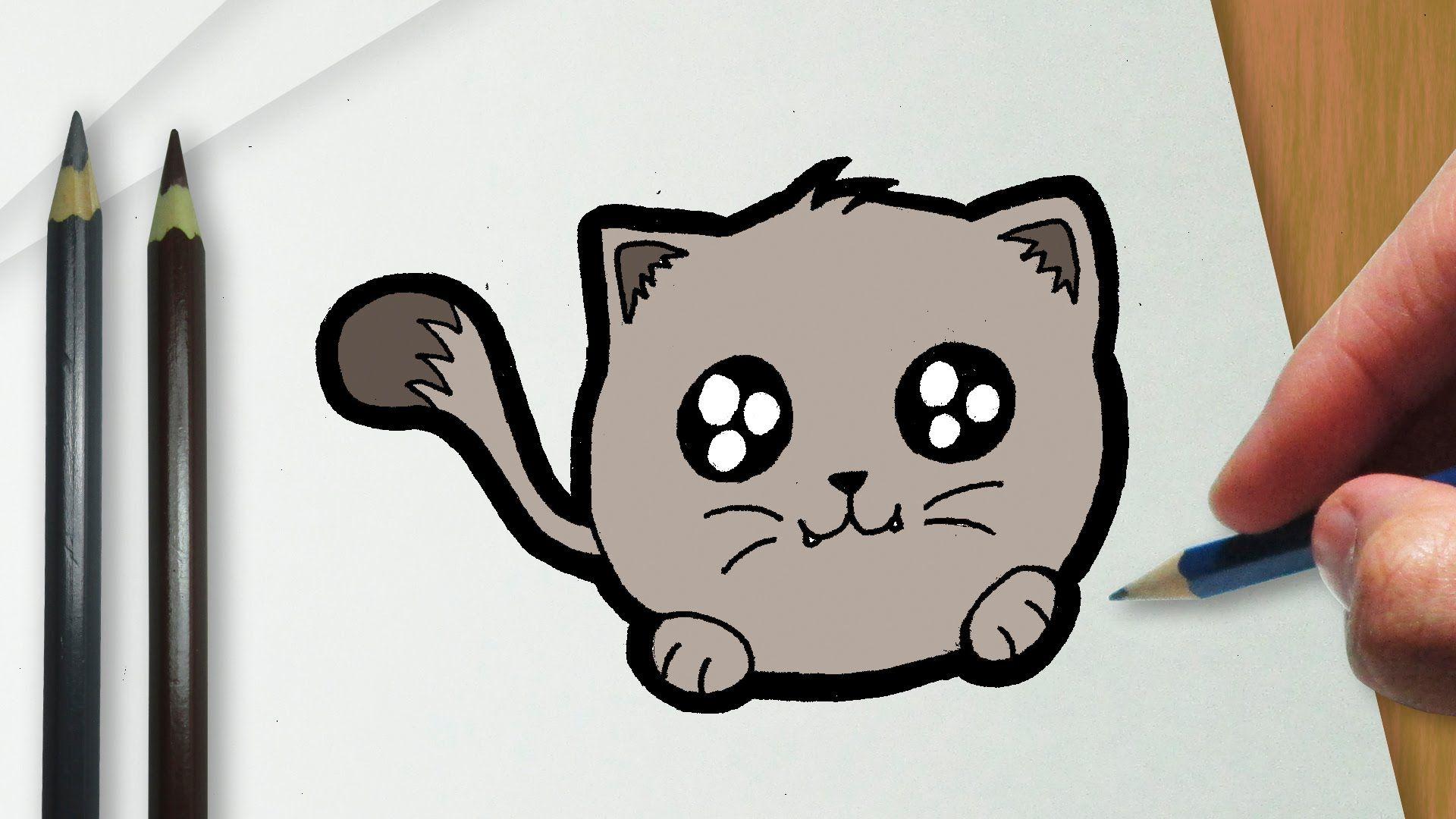 Como Desenhar Um Gatinho Kawaii Gatinho Kawaii Desenhos Kawaii