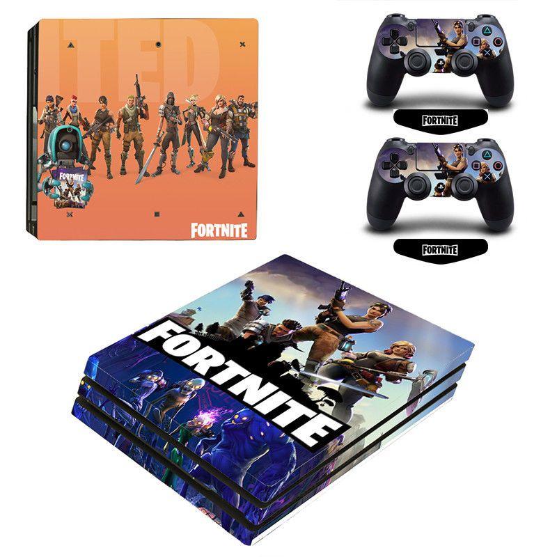 Fortnite vinyl decal cover skin sticker for sony ps4 pro