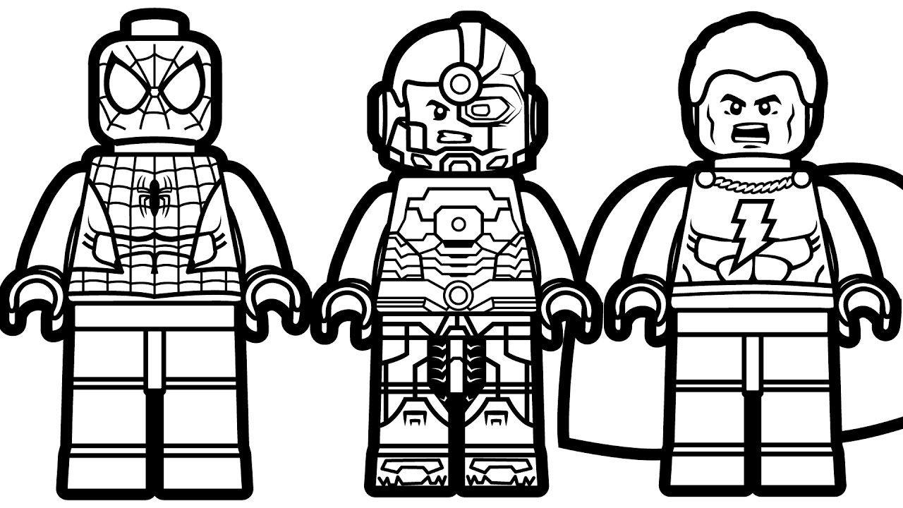 Smart Design Lego Coloring Pages Spiderman Vs Shazam Cyborg For Spiderman Coloring Lego Coloring Lego Movie Coloring Pages