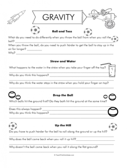 Teach This Worksheets Create And Customise Your Own Worksheets Science Worksheets Gravity Lessons Gravity Science