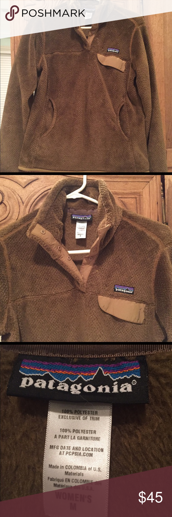 Patagonia 'Re-Tool' Snap Pullover, Medium Patagonia fleece jacket, light usage. Kangaroo style pockets. Patagonia Jackets & Coats