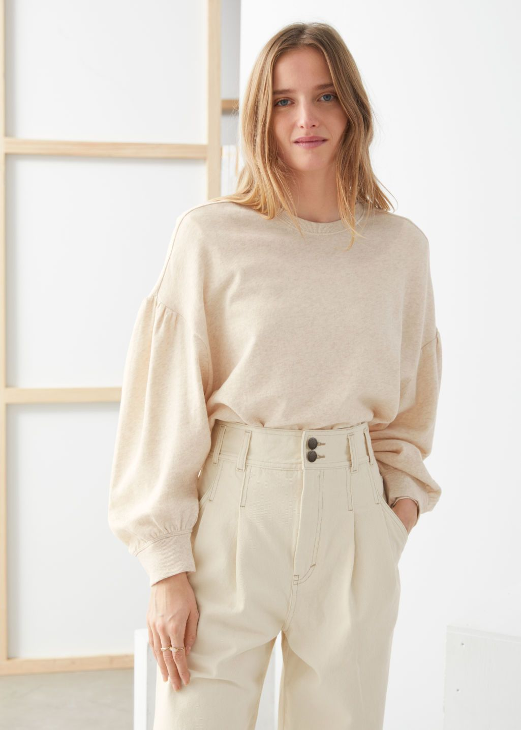 Organic Cotton Puff Sleeve Sweater in 2020   Sweater sleeves