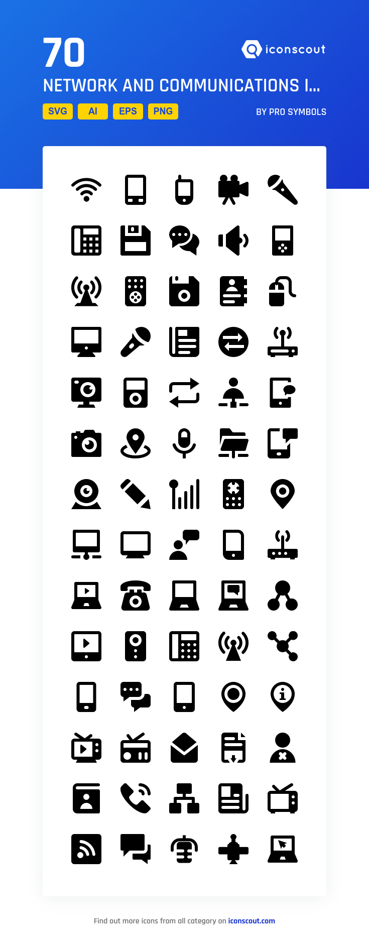 Download Network And Communications Icon Pack Available In Svg Png Eps Ai Icon Fonts Glyph Icon Communication Icon Icon