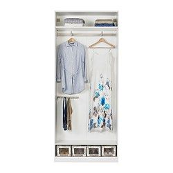 Ikea pax bergsbo frostglas  PAX Wardrobe with interior fittings, white, Bergsbo frosted glass ...