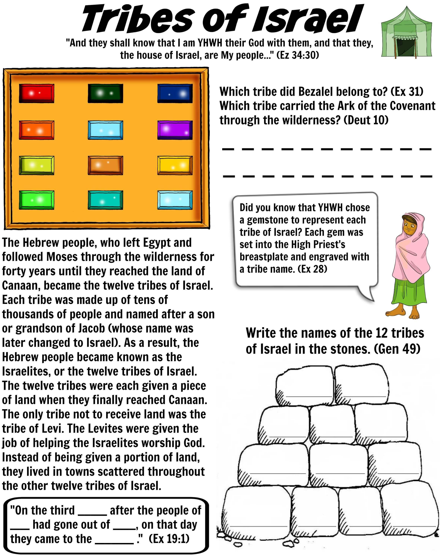 twelve tribes of israel bible worksheet free bible worksheets
