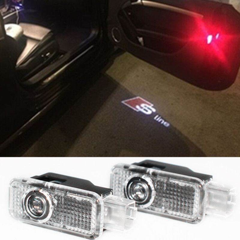 2x car led courtesy door projector light ghost shadow. Black Bedroom Furniture Sets. Home Design Ideas