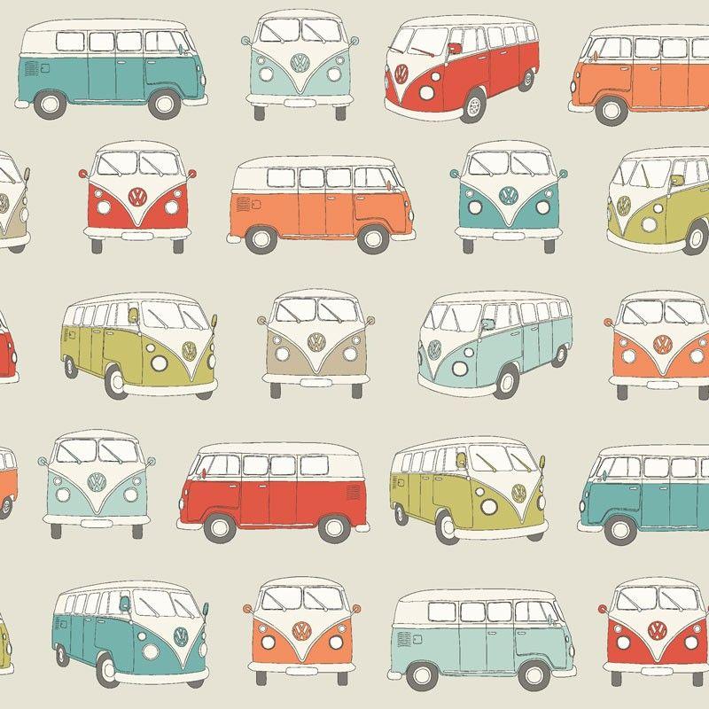 Geplastificeerd Katoen PVC VW Camper - Retro gecoat tafellinnen met gekleurde Volkswagen T1 busjes. Dit geplastificeerd katoen is van zeer goede kwaliteit en heeft een glossy PVC coating. Door de gladde pvc coating is het goed schoon te houden. Kies de gewenste lengte in het menu en wij snijden uw gecoate tafelkleed netjes voor u op maat. Erg geschikt om mee te knutselen!