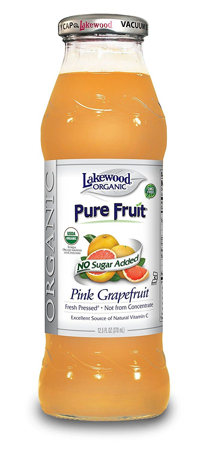 Lakewood Organic PURE Pink Grapefruit Juice, 12.5-Ounce Bottles (Pack of 12) >>> See this awesome image  : Fresh Groceries