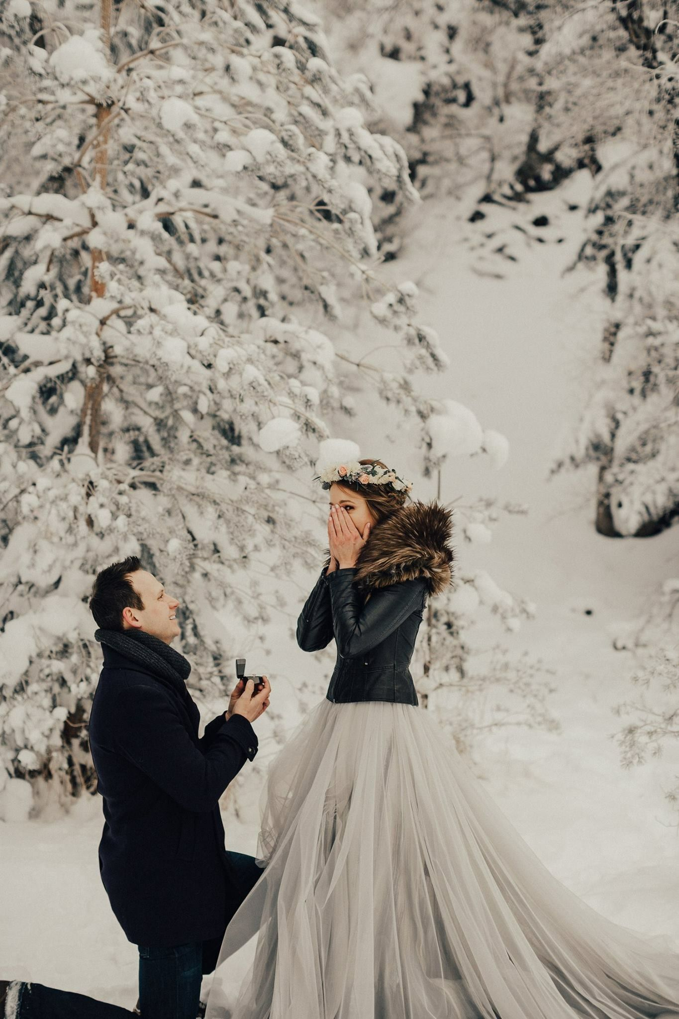 Leather wedding dress  Kenny Dawn Photo Chantel Lauren Mae Gown Platinum Snow Leather Fur