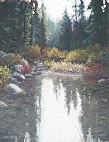 Quiet Water by Kathleen Dunphy Oil ~  x