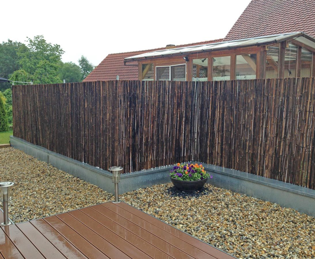 Schwarze Bambusmatte Fur Hochwertige Und Schonen Sichtschutzzaune
