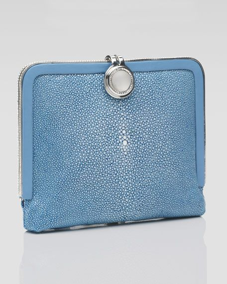 Delphine Square Stingray Clutch Bag By Judith Leiber At Neiman Marcus