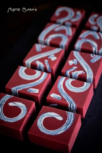 Agateware Soap Collection: Red Meander
